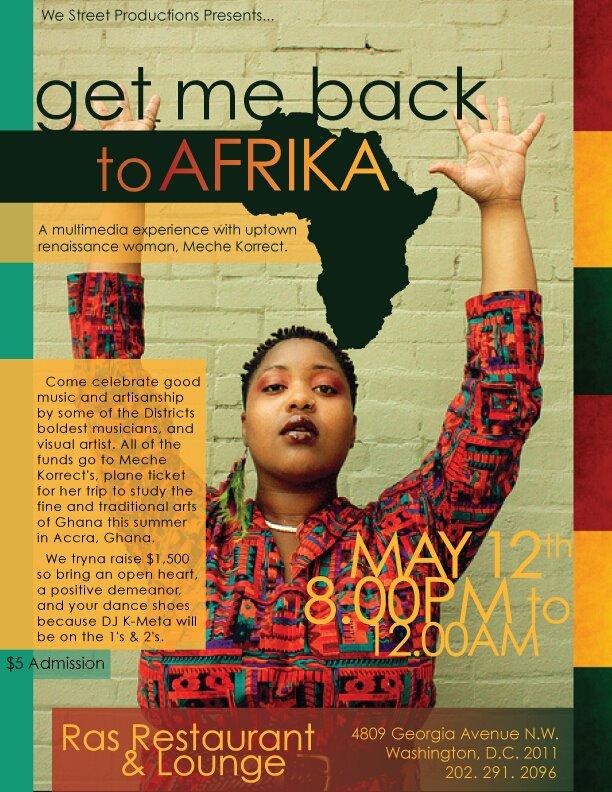get me back to AFRIKA [ Meche Korrect]